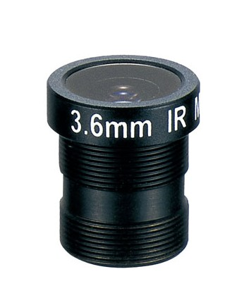 AC13B03618MM - MOQ 100pcs S-Mount lens, 3.6mm, M12, 1/3'', F1.8, 1.3MP