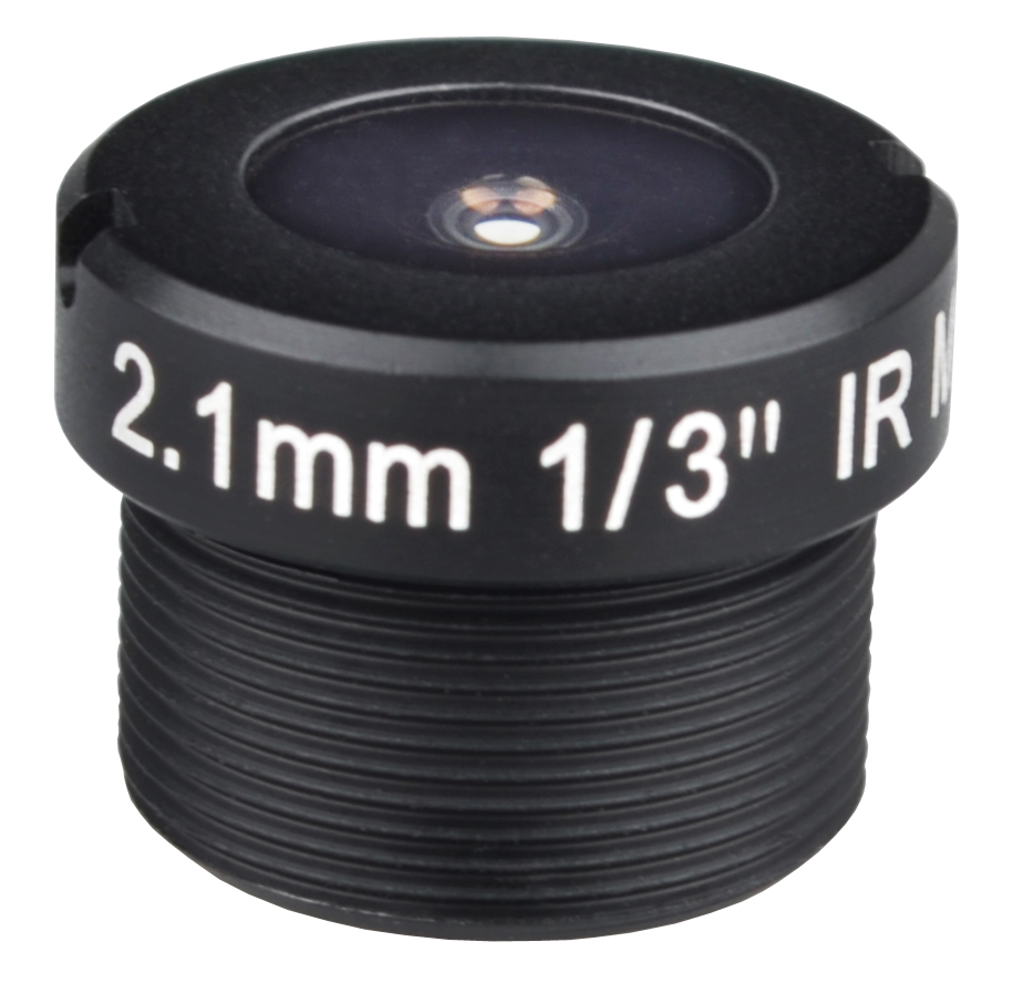ACF13B02122IRM12MM - MOQ 100pcs S-Mount lens, 2.1mm, M12, 1/3'', F2.2, 1080P
