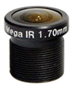 ACH01728B5M - MOQ 100pcs S-Mount lens, 1.7mm, M12, 1/3'' , F2.8, 5MP