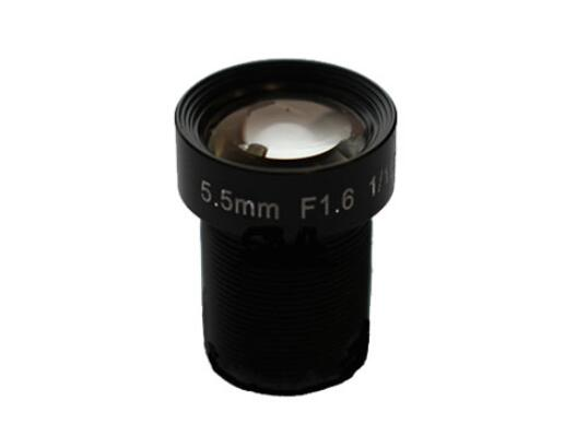 ACH05516MAC - MOQ 100pcs S-Mount lens, 5.5mm, M12, 1/1.8'' , F1.6, 2MP 100lp/mm