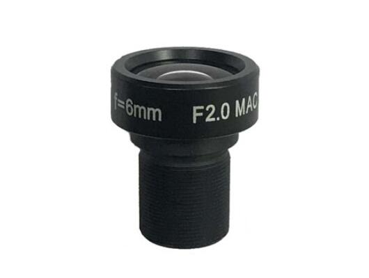 ACH0620MAC - MOQ 100pcs S-Mount lens, 6.0mm, M12, 1/1.8'' , F2.0, 2MP 100lp/mm