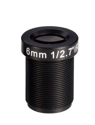 ACM127B0618IRMM - MOQ 100pcs S-Mount lens, 6mm, M12, 1/2.7'', F1.8, MP