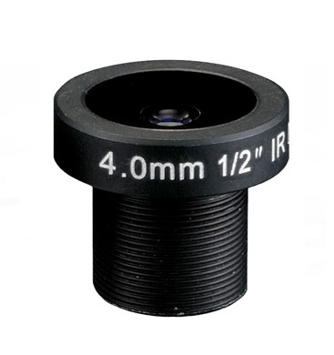 ACM12B0416IRMM - MOQ 100pcs S-Mount lens, 4mm, M12, 1/2'', F1.6, MP