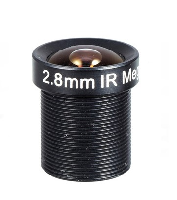ACM13B02820IRR1MM - MOQ 100pcs S-Mount lens, 2.8mm, M12, 1/3'', F2.0, IR Cut filter