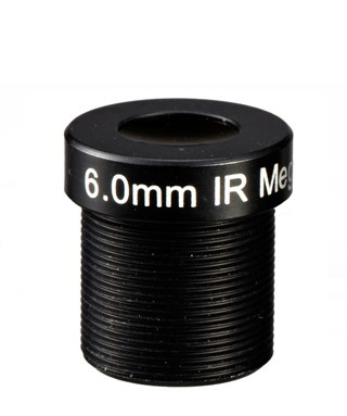 ACM13B0618IRR4MM - MOQ 100pcs S-Mount lens, 6mm, M12, 1/3'', F1.8, MP