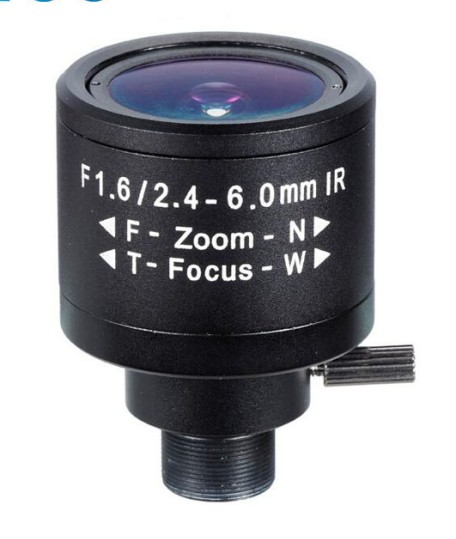 ACM13BF246IRMM - MOQ 100pcs S-Mount lens Varifocal, 2.4-6.0mm, M12, 1/3'', F1.6, MP