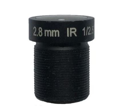 ACMTV02820IR3MP-1 - MOQ 100pcs S-Mount lens, 2.8mm, M12, 1/2.5'' , F2.0, 3MP