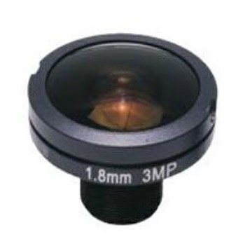 ACTM1218IR3MPF - MOQ 100pcs S-Mount lens, 1.8mm, M12, 1/1.8'', F2.8, 3MP