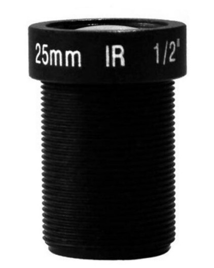 ACTM1225IR103MP - MOQ 100pcs S-Mount lens, 2.5mm, M12, 1/4'', F1.8, 1.3MP
