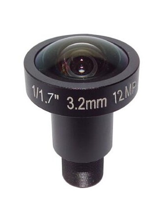 ACTM1232MP - MOQ 100pcs S-Mount lens, 3.2mm, M12, 1/3'', F2.5, MP