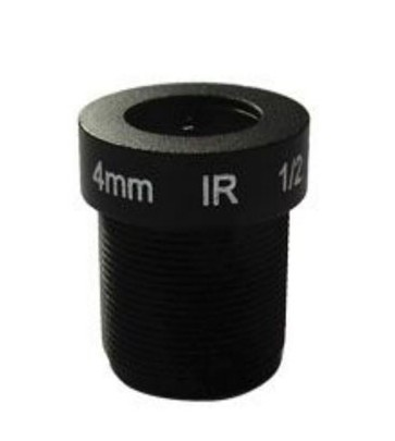 ACTM124IR3MPC - MOQ 100pcs S-Mount lens, 4.0mm, M12, 1/2.7'', F2.6, 3MP