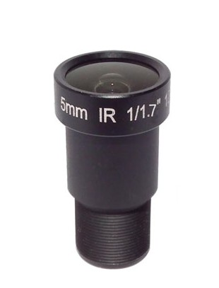 ACTM125IR12MP - MOQ 100pcs S-Mount lens, 5.0mm, M12, 1/1.7'', F2.0, 12MP