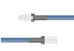 FCB-10-OP - Extension Cable 24V, 10 meters, flying leads on one side