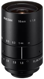 FL-BC1618-9M - LENS FOR BOARD CAMERAS, FIXED FOCAL LENGTH, MANUAL IRIS, 1'' Mount C FL: 16,0mm Iris F1.8 - 16