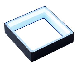FPQ2-120BL-M12 - Low-Angle Square Light, Blue, M12 Connector