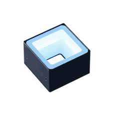 FPQ2-48BL-M12 - Low-Angle Square Light, Blue, M12 Connector
