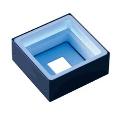 FPQ2-75BL-M12 - Low-Angle Square Light, Blue, M12 Connector