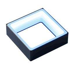 FPQ2-96BL-M12 - Low-Angle Square Light, Blue, M12 Connector