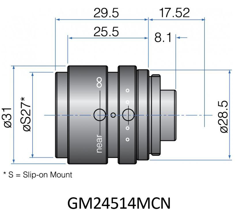 GM24514MCN - COMPACT FIX FOCAL LENGTH LENSES 1/2