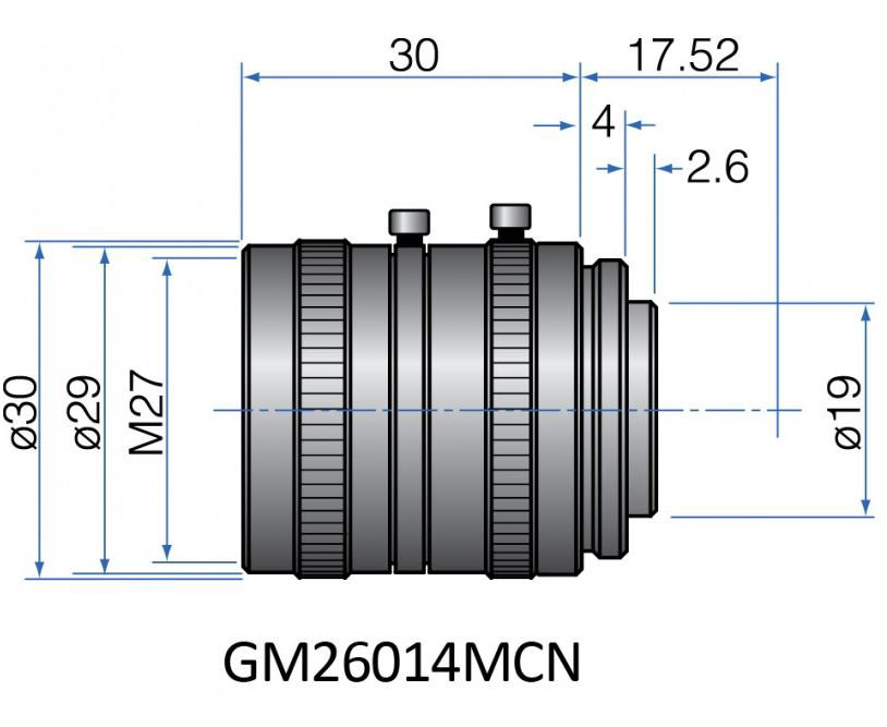 GM26014MCN - COMPACT FIX FOCAL LENGTH LENSES 1/2