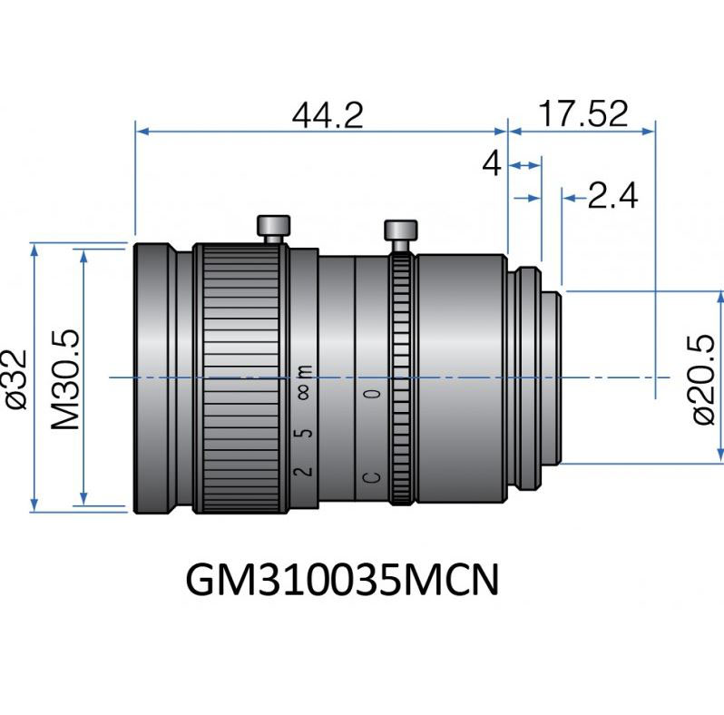 GM310035MCN - COMPACT FIX FOCAL LENGTH LENSES 2/3