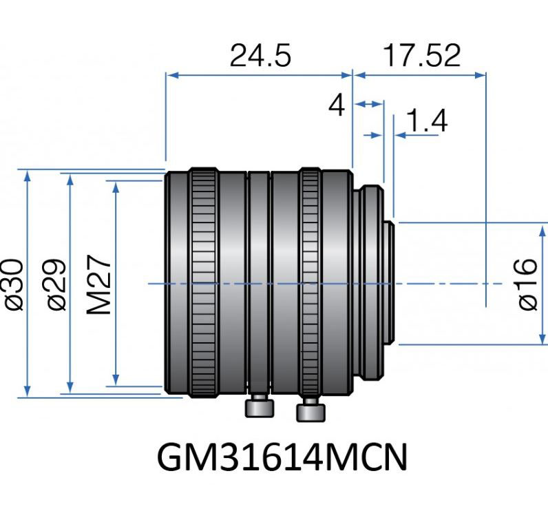 GM31614MCN - COMPACT FIX FOCAL LENGTH LENSES 2/3