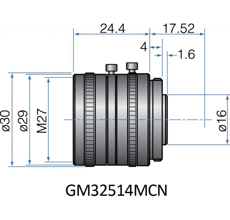 GM32514MCN - COMPACT FIX FOCAL LENGTH LENSES 2/3