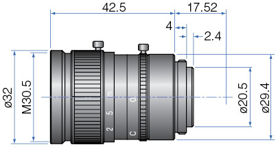 GM37527MCN - COMPACT FIX FOCAL LENGTH LENSES 2/3