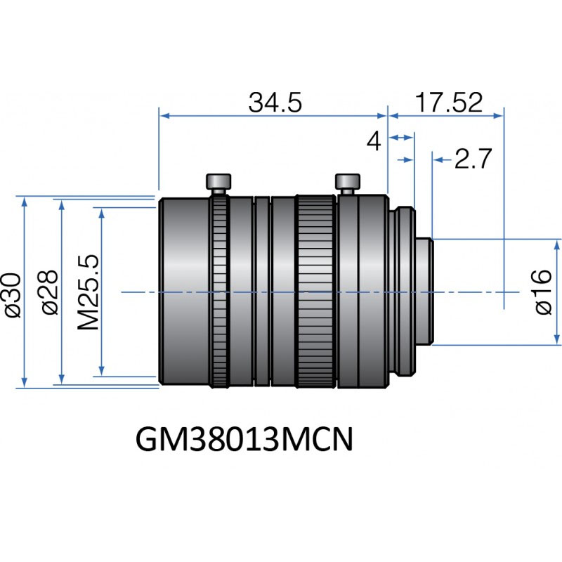 GM38013MCN-1 - COMPACT FIX FOCAL LENGTH LENSES 2/3