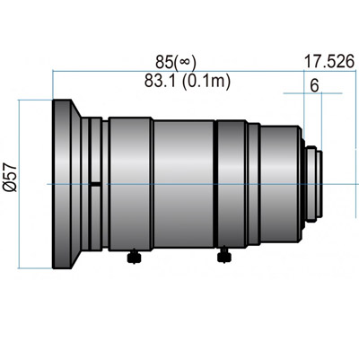 GMHR61220MCN - 4/3(23mm) MEGAPIXEL LENSES 12mm Iris:f/2-22 Filter size: M55