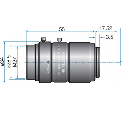 GMHR62520MCN - 4/3(23mm) MEGAPIXEL LENSES 25mm Iris:f/2-16 Filter size: M40.5