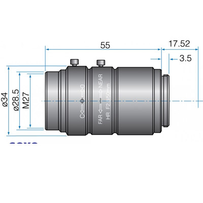 GMHR65020MCN - 4/3(23mm) MEGAPIXEL LENSES 50mm Iris:f/2-22 Filter size: M37.5