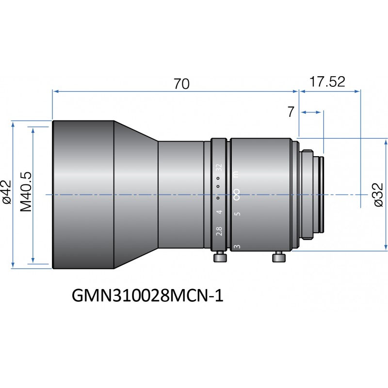 GMN310028MCN-1 - FIX FOCAL LENGTH LENSES 2/3