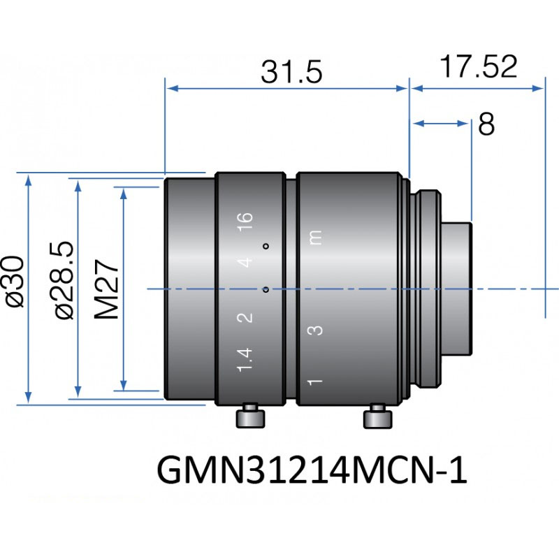GMN31214MCN-1 - FIX FOCAL LENGTH LENSES 2/3