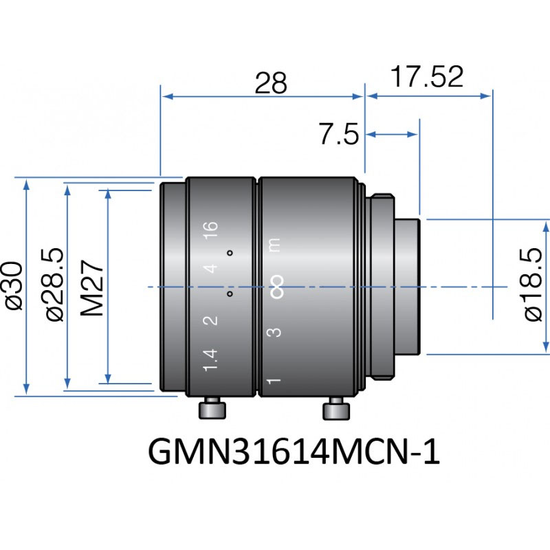 GMN31614MCN-1 - FIX FOCAL LENGTH LENSES 2/3