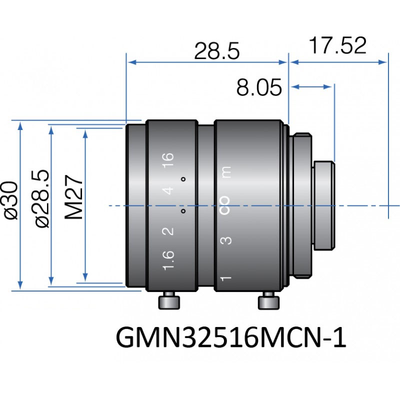 GMN32516MCN-1 - FIX FOCAL LENGTH LENSES 2/3