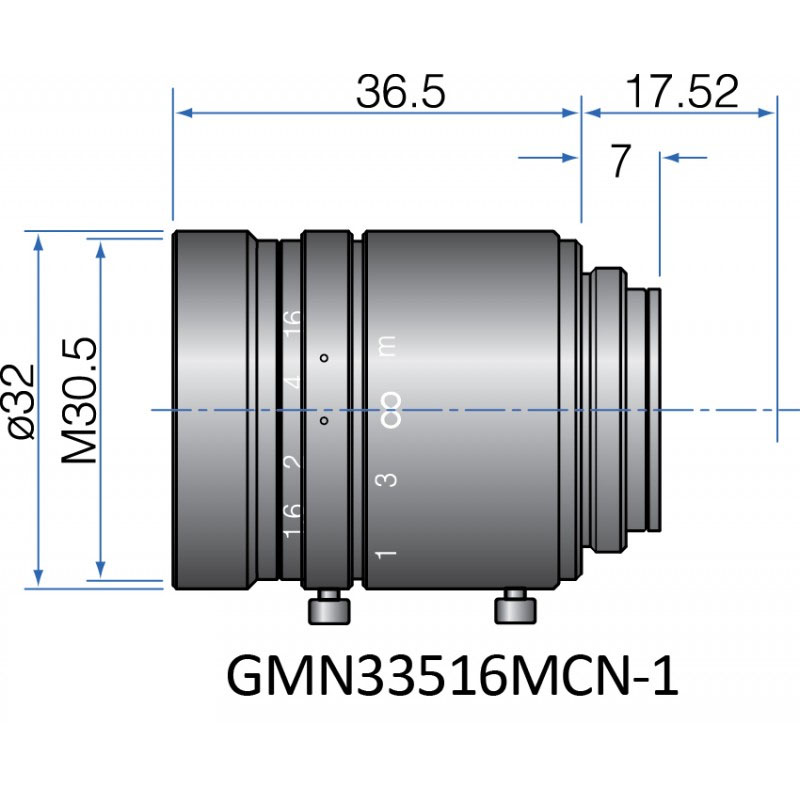 GMN33516MCN-1 - FIX FOCAL LENGTH LENSES 2/3