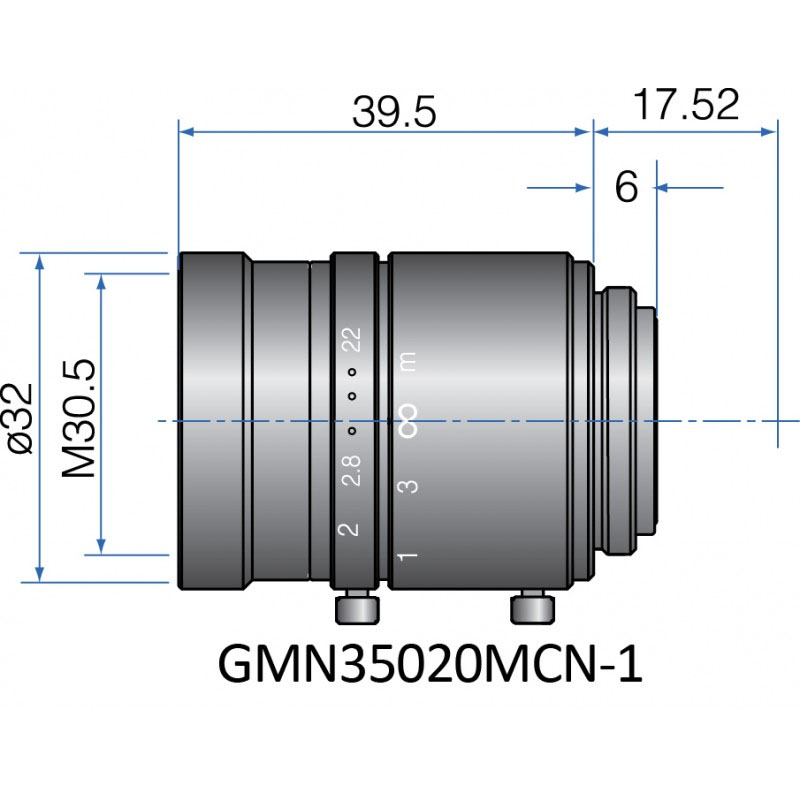 GMN35020MCN-1 - FIX FOCAL LENGTH LENSES 2/3