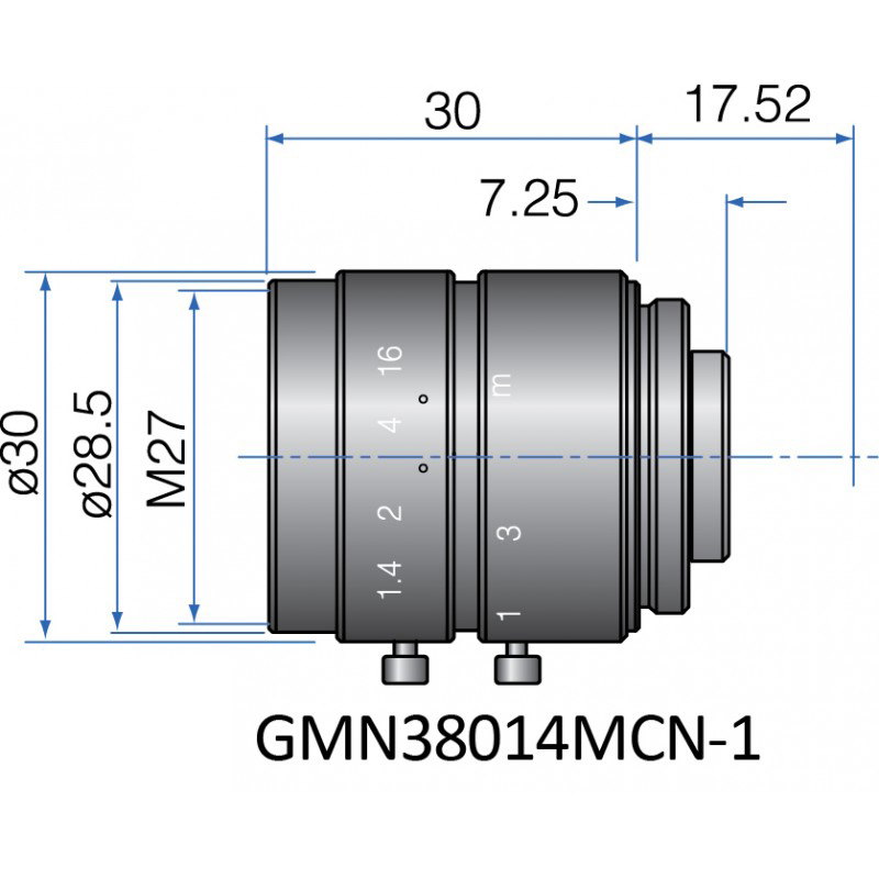 GMN38014MCN-1 - FIX FOCAL LENGTH LENSES 2/3