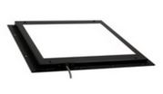 "MB-BL8X8-G-VT2 - STAINLESS STEEL VERSION OF METABRIGHT 8"" X 8"" BACKLIGHT, GREEN LEDS, 24VDC, IP67 WITH 5 PIN EURO CON"