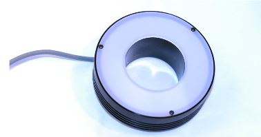 "MB-RL301-W-24-T-IP67 - MetaBrigt, IP67 RK,, 2.5ID/5.75""OD,24V, White, M12 wired for Cognex Strobe Mode, 19"" cable"