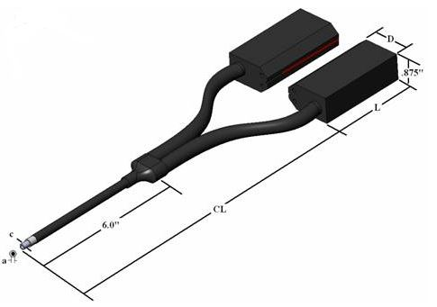 QDF2048M - dual flexible fiber optic LineLight , length=48 in. dual line outputs 1.50 X 0.020 in.