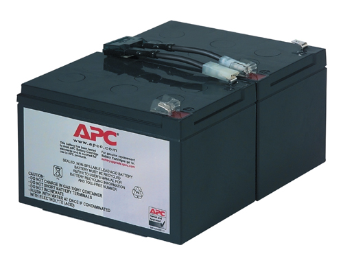 RBC6 - APC Replacement Battery for SU1000I, SU1000RMI, SUA1000I, SMT1000I, SMC1500I.