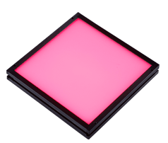 TH-100X100RD - Flat Light (Back Light), Red