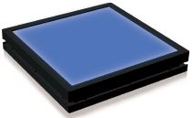 TH2-100X100BL-PM - Flat Light (Back Light) Blue, 24V