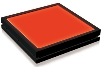 TH2-100X100RD - Flat Light (Back Light), Red, 24VDC