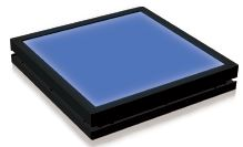 TH2-140X105BL - Flat Light (Back Light) Blue, 24V