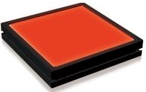 TH2-140X105RD - Flat Light (Back Light) Red, 24V