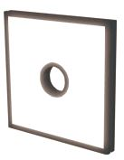TH2-150X150SW-CR35 - Flat Light (Back Light) White, 24V