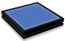 TH2-160X120BL - Flat Light (Back Light) Blue, 24V